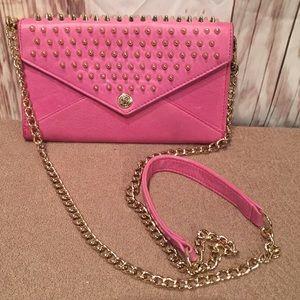 Rebecca Minkoff Pink Leather Crossbody Bag    P083